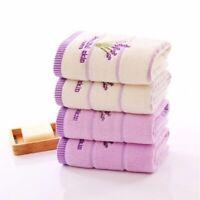 Soft Cotton Face Towel for Adults Super Absorbent Towel Lavender Pattern 35x75cm