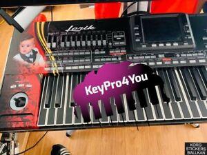 ✅61er Korg Keyboard Sticker - Folie Korg Pa2x Pa3x Pa4x Kronos + OPT. 256MB RAM
