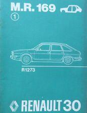 RENAULT 30 R30 MANUEL REPARATION CARROSSERIE MR169 PIECE REFERENCE DESSIN 1975