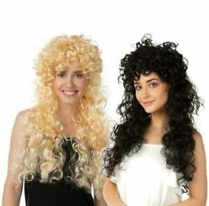 Curly Long Wig Fancy Dress Costume 1980s Cosplay Wigs Party Popstar Cosplay