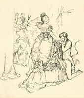 Harold Hope Read (1881-1959) - Pen and Ink Drawing, Opera Star and Her Suitor