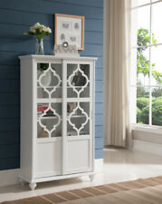 Custom White Curio Cabinet Glass Doors Concept