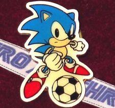 SONIC THE HEDGEHOG JAPAN FOOTBALL PIN BADGE! SEGA CLASSIC 90s SOCCER! MEGA DRIVE