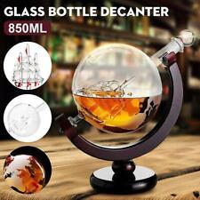 850ml Wine Bottle Globe World Glass Crystal Whiskey Decanter Liquor Spirits Gift