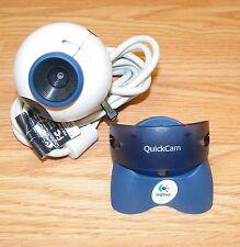 Logitech QuickCam (V-UK11) Free Standing Round Desktop Digital USB Webcam *READ*