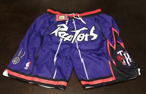 *NEW* Just Don VINTAGE TORONTO RAPTORS Black/Purple SHORTS W/POCKETS Size: XL