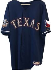 2010 Texas Rangers Game Worn Jersey W/ World Series Patch Jorge Cantu