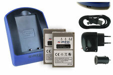2x Baterìas + USB Cargador BLS-5 para Olympus E-450, Stylus 1 / PEN E-PL1, E-PL2