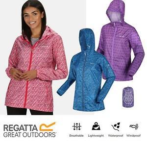 Regatta Womens Printed Pack-It Waterproof Hooded Packable Jacket