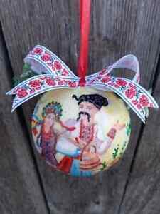 Ukrainian Christmas ornaments Vertep Folk Ukraine decor XMAS balls Tree toy