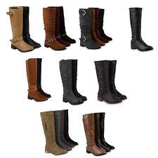 Damen Stiefel Profil Sohle Trendy Boots Schnallen 891918 Schuhe
