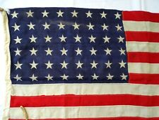 More details for original wwii american us flag / 48  star cotton stitched stripes 36