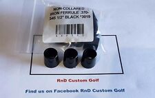 "Golf Iron Ferrules .370-.545 1/2"" Black 12 Pcs Non Collared"