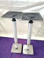 Two SPORT MASTER Bass Boat Seat Pedestal With Swivels 22.5inches in Total Height