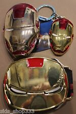 Comic Collectible IRON MAN 2 Belt Buckles and Key chain lot cosplay or just wear