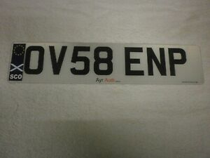 GREAT BRITAIN SCOTLAND AYR EUROSTARS COUNTRY FLAG #OV58 ENP FRONT LICENCE PLATE