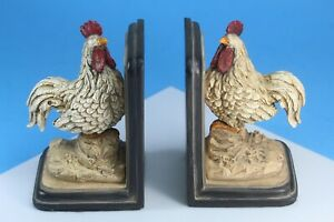 Vintage Rooster, Chicken Bookends.