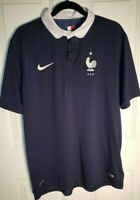 France World Cup Jersey 2014 Nike Dri Fit FFF National Football Team Blue XL
