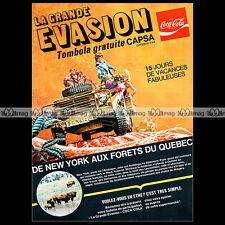 COCA-COLA COKE 'Jeu La grande évasion' - 1971 Pub / Publicité / Ad #A320