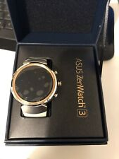 ASUS Zenwatch3 WI503Q New Android Wear OS Beige RUBBER band Smart Watch IOS E
