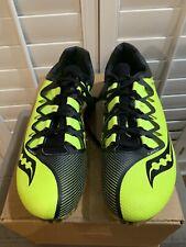 Saucony Showdown 4 Men's Spike Track Shoes 11 Blacl/ Citron 29033-1