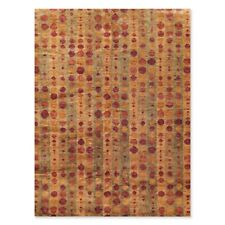 9' x 12' Hand Knotted 100% Jute Thick Pile Oriental Area Rug Modern Tan