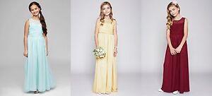 BHS Bridesmaid Dress Teen Illusion Merlot Age 8-9, Lemon 10-11 BNWT