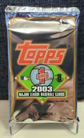 2003 Topps Series 1 Baseball - Sealed 12 Card Pack
