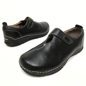 ✅❤️✅ @@ Teva Women's Black Leather Casual Shoes Sz 10 Eu41 Monk Strap Wedge