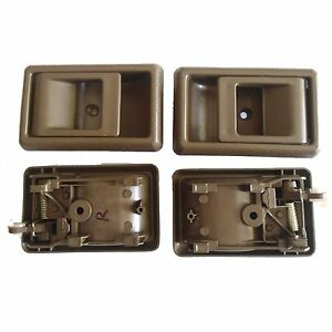 For 95-00 Toyota Corolla Tercel Tacoma Inside Left Right Side Door Handle Brown