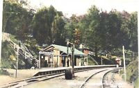 .RARE 1910 SPRING BLUFF RAILWAY STATION, NEAR TOOWOOMBA QLD POSTCARD.