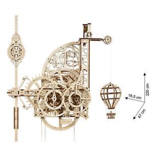 Ugears - Wood Model Building Aero Clock Wall Clock With Pendulum 320 Pieces