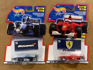 (2) RARE 2000 Hot Wheels Racing Grand Prix Car Lot (McLaren & F1-2000) NEW
