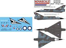 RAAF Mirage IIIo Mini-Set Decals 1/48 Scale N48053b