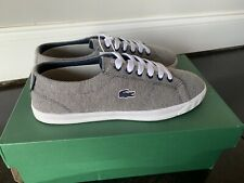 Lacoste Youth Marcel Lace 216 Sz 5.5 Grey/Navy - Nib