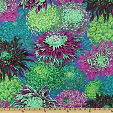 KAFFE FASSETT Fabric Fat Quarter Cotton Pandora Chrysanthemum Purple Green