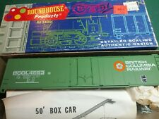 Roundhouse 50' British Columbia 1265 USA HO Scale Train Plug Door Box Car BoxCar