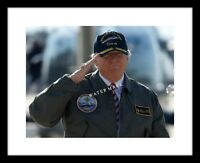 President Donald Trump 8x10 Photo Print USS Gerald Ford Military Navy