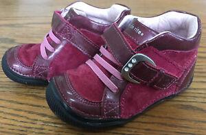 Toddler Girl Size 6 M STRIDE RITE SRT KARLEE Leather Dress Shoes Pink Red