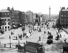 Photo. 1889. Dublin. Sky View O'Connell Bridge & Sackville St - Trams
