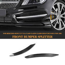 For Mercedes Benz C117 CLA250 Front Bumper Side Air Intake Cover Carbon Fiber