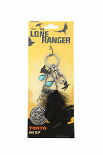 Disney The Lone Ranger Movie Backpack  Bag Clip Keychain Tonto Coin Charm NEW