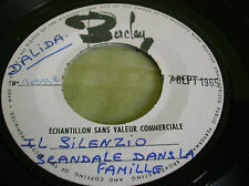 SP  TEST PRESSING  DALIDA  chante en Italien IL SILENZIO 1965-BARCLAY