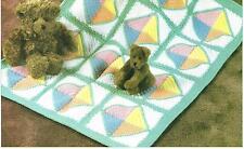 *Rainbow Sherbet Baby Afghan + Baby Sweater Set crochet PATTERN INSTRUCTIONS