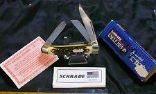 Schrade 885UH Uncle Henry Knife NOS W/Original Torn & Worn Packaging & Paperwork