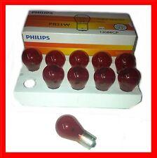 10x Philips PR21W ROT Kugellampe 12V 21W BAW15s Glühlampe Glühbirne Birn 12088CP
