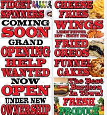 BANNER SIGN 3' x 8' Funnel Cake Fries Fish Chicken Wings - for fair food cart