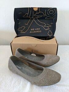 Allbirds Women's Tree Breezers Shoes Asteroid Beige Sz 8.5 Flats Casual Walking