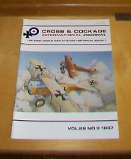 CROSS & COCKADE GREAT BRITAIN JOURNAL VOL 28 No 3  1997 RAF SYREN NIEUPORT 17