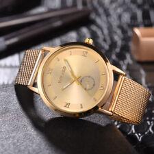 Top Brand Luxury Quartz Watch Men Casual Slim Mesh Steel Waterproof Sport Watch